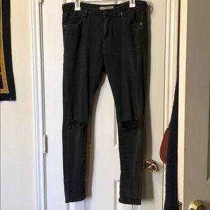 Topshop Moto Leigh Black Skinny Jeans